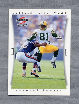 1997 Score Football #104 Desmond Howard - Oakland Raiders