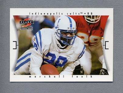 1997 Score Football #054 Marshall Faulk - Indianapolis Colts