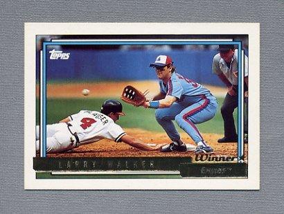 1992 Topps Baseball Gold Winners #531 Larry Walker - Montreal Expos
