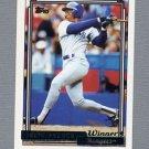 1992 Topps Baseball Gold Winners #490 Julio Franco - Texas Rangers