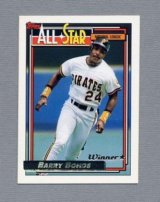 1992 Topps Baseball Gold Winners #390 Barry Bonds AS - San Francisco Giants
