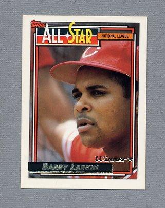 1992 Topps Baseball Gold Winners #389 Barry Larkin AS - Cincinnati Reds