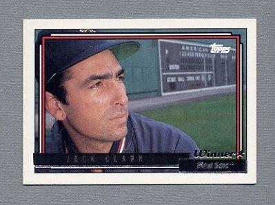 1992 Topps Baseball Gold Winners #207 Jack Clark - Boston Red Sox