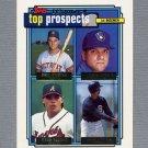 1992 Topps Baseball Gold Winners #126 Rico Brogna / John Jaha RC / Ryan Klesko / Dave Staton