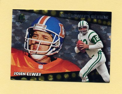 1996 Topps Football Broadway's Reviews #BR9 John Elway - Denver Broncos