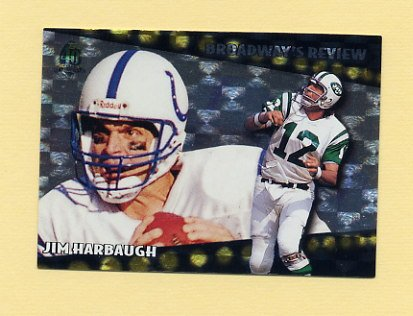 1996 Topps Football Broadway's Reviews #BR8 Jim Harbaugh - Indianapolis Colts