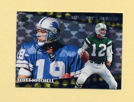 1996 Topps Football Broadway's Reviews #BR5 Scott Mitchell - Detroit Lions