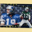 1996 Topps Football Broadway's Reviews #BR5 Scott Mitchell - Detroit Lions