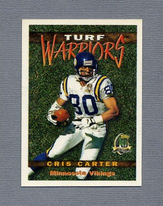 1996 Topps Football Turf Warriors #TW12 Cris Carter - Minnesota Vikings