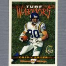 1996 Topps Football Turf Warriors #TW12 Cris Carter - Minnesota Vikings
