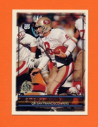 1996 Topps Football #370 Steve Young - San Francisco 49ers
