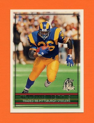 1996 Topps Football #355 Jerome Bettis - Pittsburgh Steelers