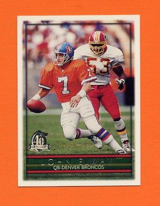 1996 Topps Football #320 John Elway - Denver Broncos