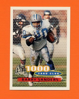 1996 Topps Football #122 Barry Sanders TYC - Detroit Lions
