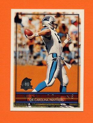 1996 Topps Football #050 Kerry Collins - Carolina Panthers