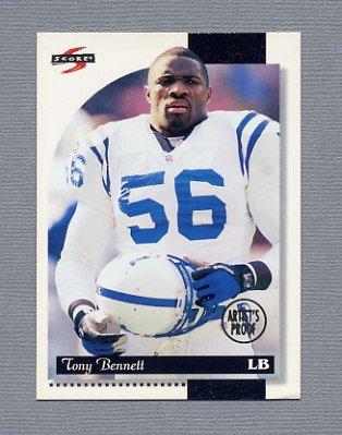 1996 Score Football Artist's Proofs #171 Tony Bennett - Indianapolis Colts