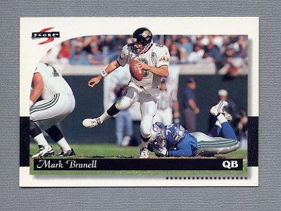 1996 Score Football #089 Mark Brunell - Jacksonville Jaguars