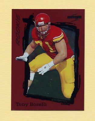 1995 Score Football Red Siege #246 Tony Boselli RC - Jacksonville Jaguars