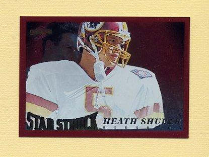 1995 Score Football Red Siege #229 Heath Shuler SS - Washington Redskins