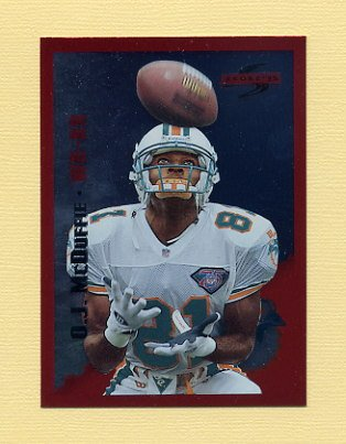 1995 Score Football Red Siege #182 O.J. McDuffie - Miami Dolphins