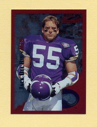 1995 Score Football Red Siege #181 Jack Del Rio - Minnesota Vikings