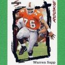 1995 Score Football #267 Warren Sapp RC - Tampa Bay Buccaneers