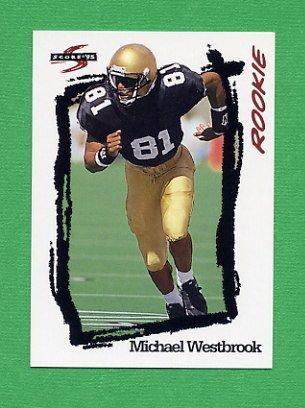 1995 Score Football #253 Michael Westbrook RC - Washington Redskins