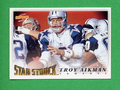 1995 Score Football #215 Troy Aikman SS - Dallas Cowboys