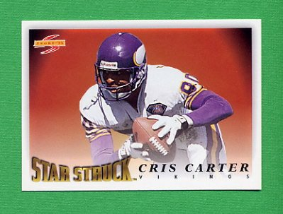 1995 Score Football #213 Cris Carter SS - Minnesota Vikings