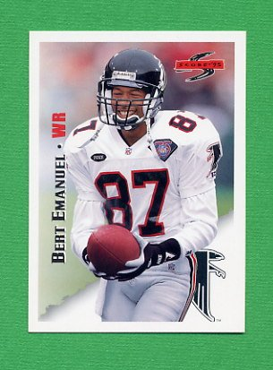 1995 Score Football #130 Bert Emanuel - Atlanta Falcons
