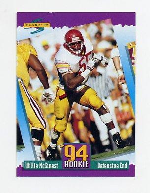 1994 Score Football #285 Willie McGinest RC - New England Patriots