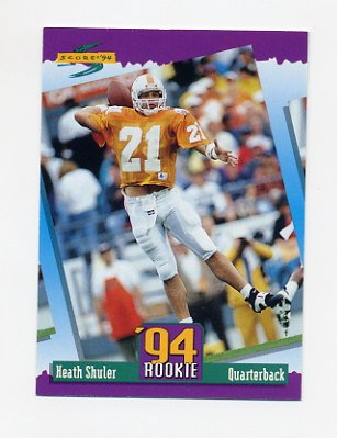 1994 Score Football #276 Heath Shuler RC - Washington Redskins