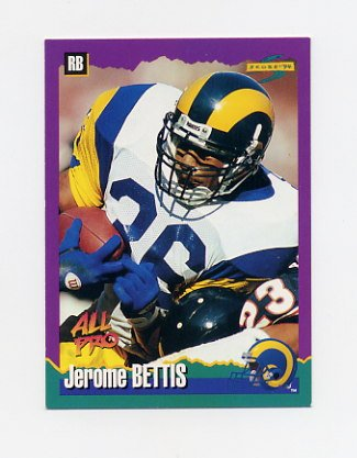 1994 Score Football #021 Jerome Bettis - Los Angeles Rams ExMt