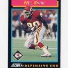 1992 Score Football #378 Neil Smith - Kansas City Chiefs