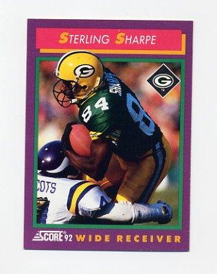 1992 Score Football #114 Sterling Sharpe - Green Bay Packers