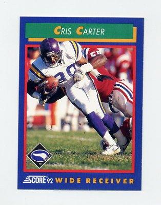1992 Score Football #019 Cris Carter - Minnesota Vikings