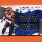2008 Exquisite Football Super Swatch Blue #SSCJ Chad Ocho Cinco Johnson - Bengals Game-Used 01/20