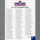 1992 Pro Line Portraits Football #NNO Checklist G