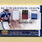 2007 Gridiron Gear Rookie Jerseys Combos Prime #210 Chris Henry Game-Used Jerseys/Football /50