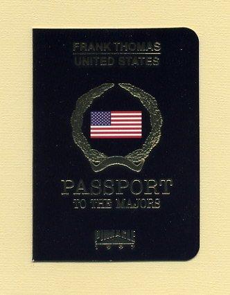1997 Pinnacle Baseball Passport To The Majors #03 Frank Thomas - Chicago White Sox