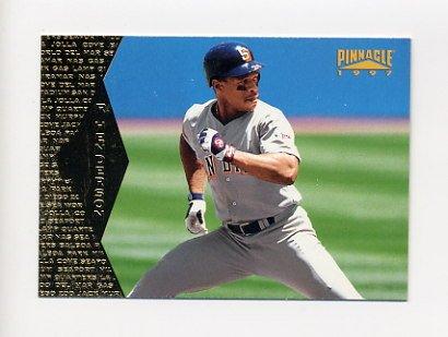 1997 Pinnacle Baseball #104 Rickey Henderson - San Diego Padres