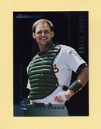 1997 Donruss Baseball Silver Press Proofs #110 Terry Steinbach - Oakland A's