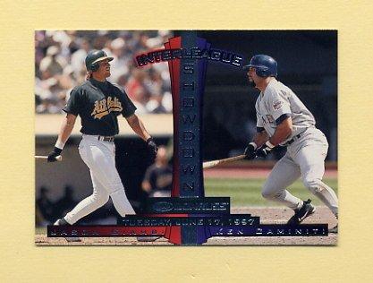1997 Donruss Baseball #446 Ken Caminiti - San Diego Padres  / Jason Giambi - Oakland A's IS