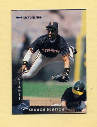 1997 Donruss Baseball #255 Shawon Dunston - San Francisco Giants