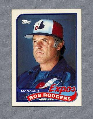 1989 Topps Baseball Tiffany #474 Bob Rodgers MG - Montreal Expos