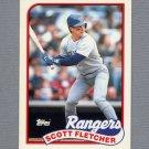 1989 Topps Baseball Tiffany #295 Scott Fletcher - Texas Rangers