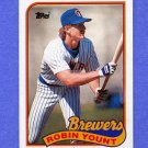 1989 Topps Baseball #615 Robin Yount - Milwaukee Brewers NM-M