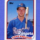 1989 Topps Baseball #432 Chad Kreuter RC - Texas Rangers