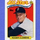 1989 Topps Baseball #405 Roger Clemens AS - Boston Red Sox NM-M