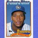 1989 Topps Baseball #343 Gary Sheffield RC - Milwaukee Brewers